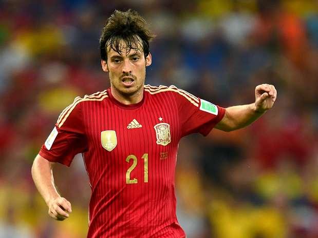 David Silva durante un partido de la Selección Española Foto: Getty Images