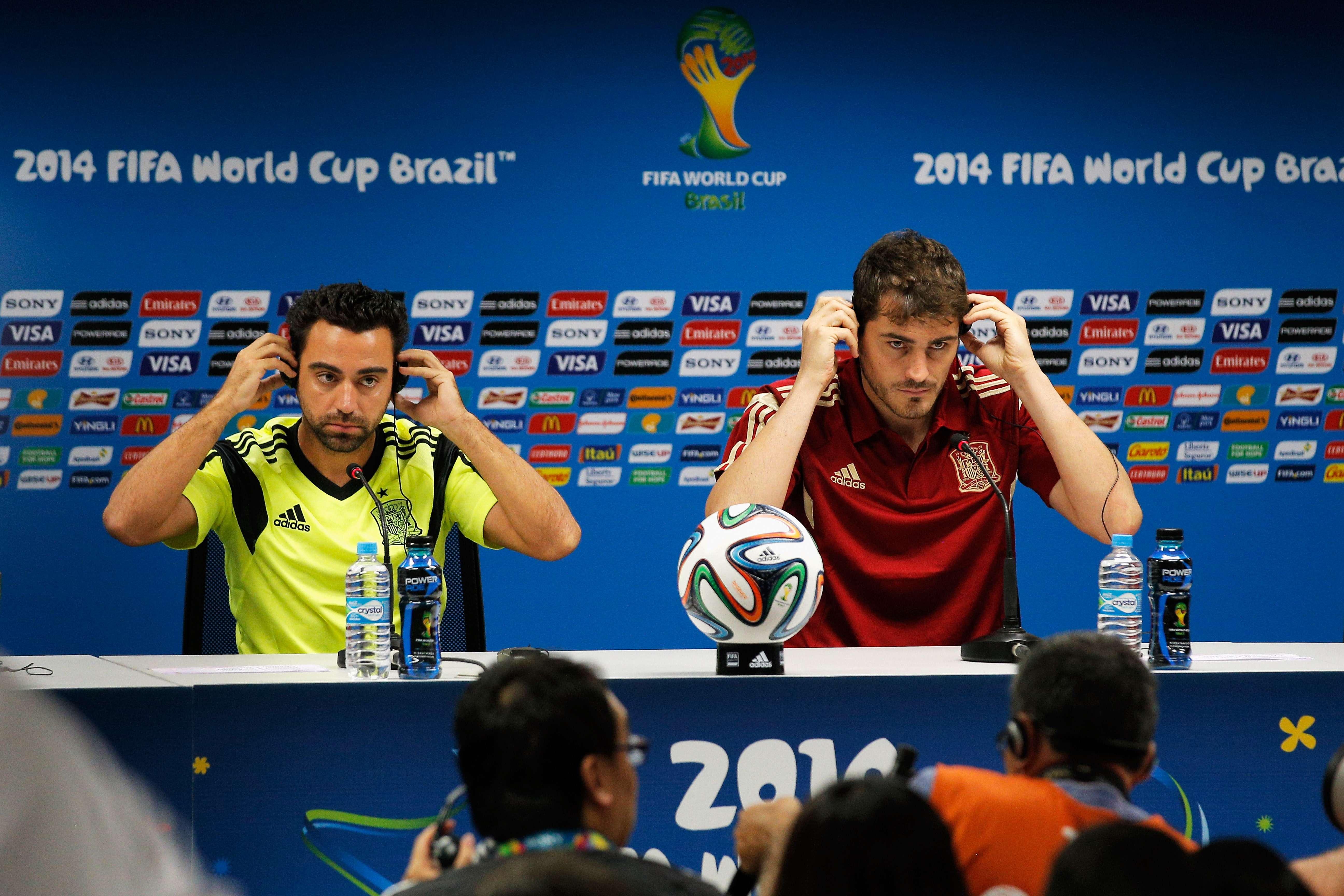 Xavi y Casillas podrían estar ante su último partido con España Foto: Getty Images