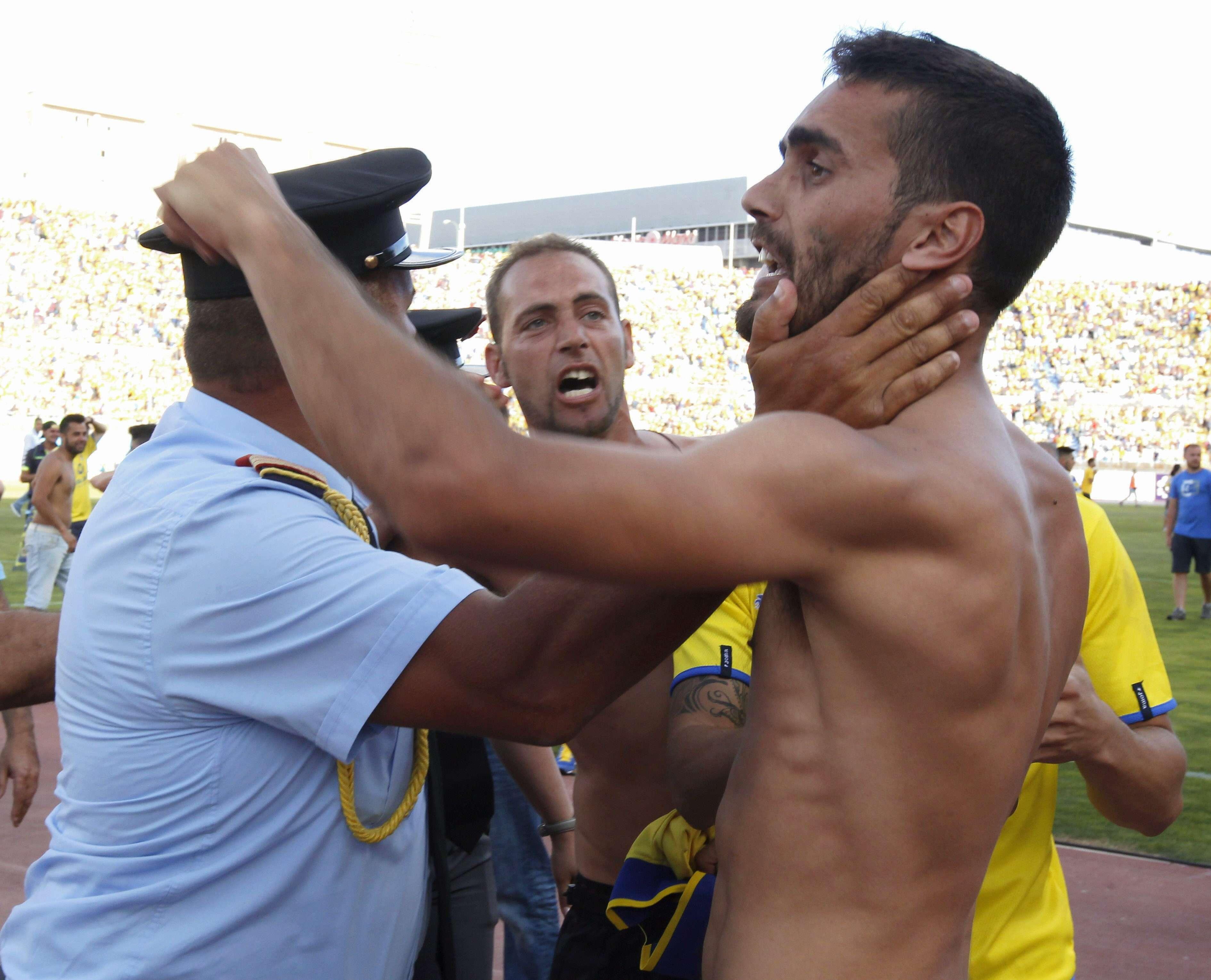 Altercados del partido de ascenso Las Palmas - Córdoba
