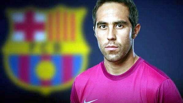 Claudio Bravo es el nuevo fichaje del Barcelona. Foto: Gentileza Barcelona