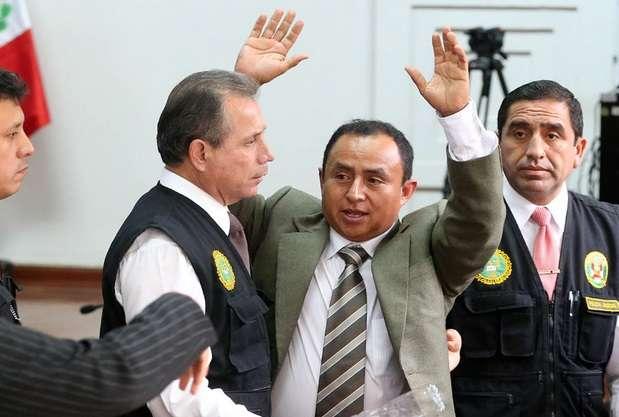 Gregorio Santos será trasladado a un penal de la capital Foto: Andina