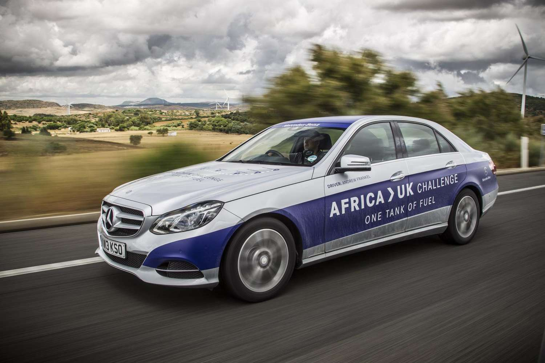 Mercedes-Benz E 300 BlueTEC HYBRID de Africa a UK Foto: Mercedes-Benz