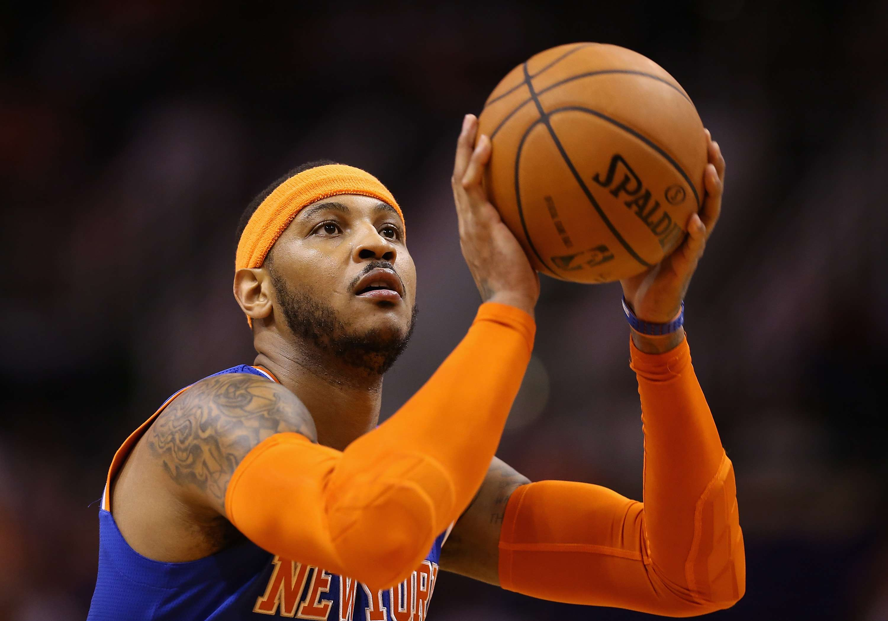 Los Rockets reciben a Carmelo Anthony con la camiseta '7'