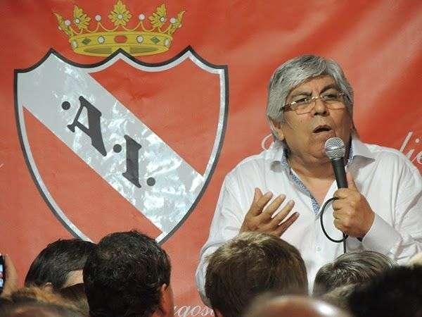 Hugo Moyano es candidato a presidir a Independiente Foto: Web.