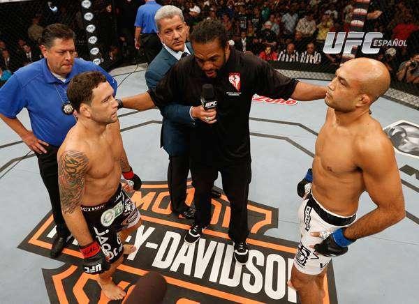 Edgar y Penn, dos leyendas frenta a frente. Foto: UFC