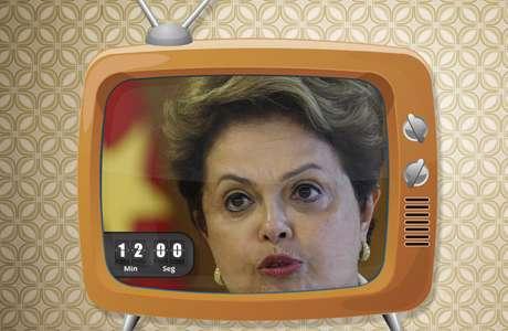 Dilma Rousseff terá mais tempo na propaganda eleitoral em rádio e TV Foto: Arte Terra