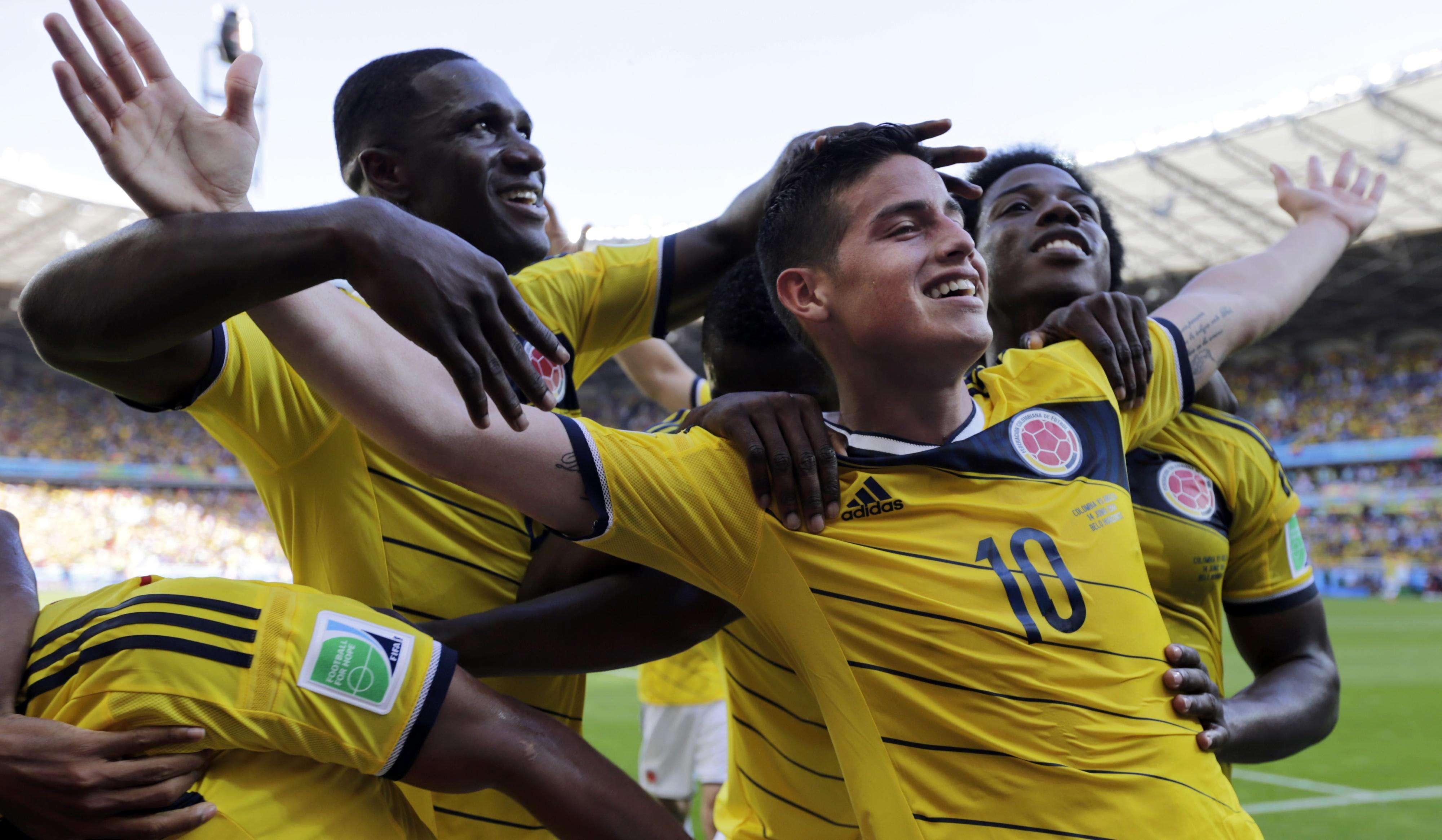14 de junho de 2014 - Colômbia 3 x 0 Grécia Foto: Reuters