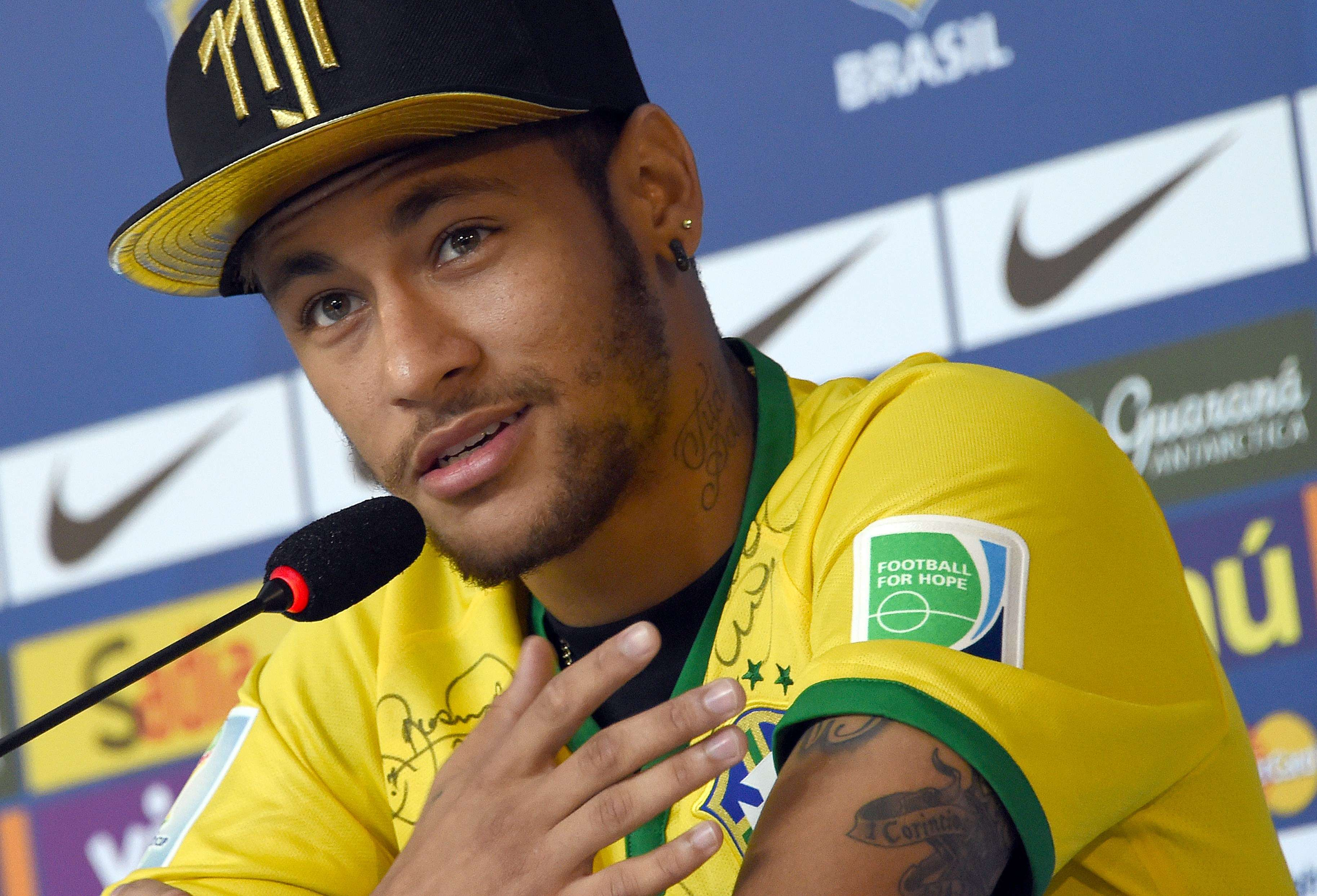 Neymar thankful he's not in a wheelchair
