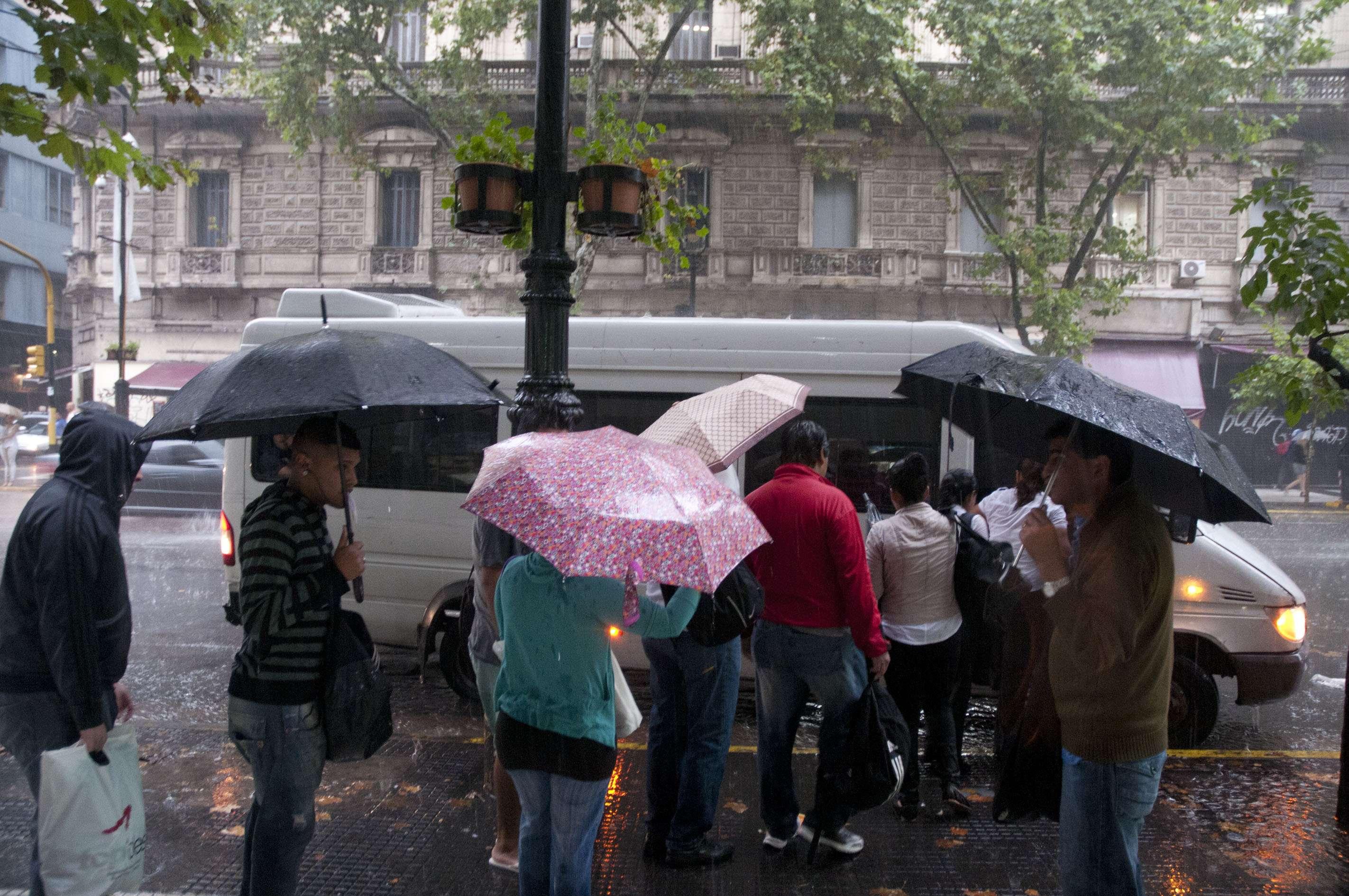 Lluvias en Buenos Aires Foto: NA