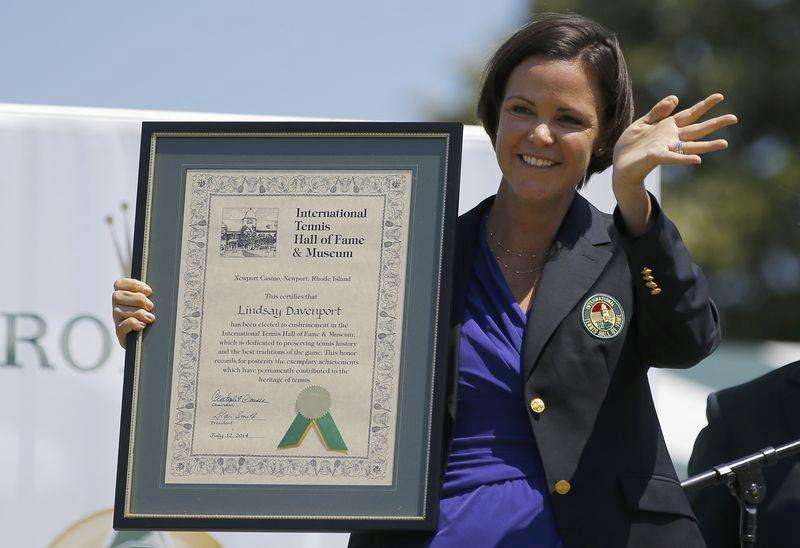 Lindsay Davenport inducted into Hall of Fame