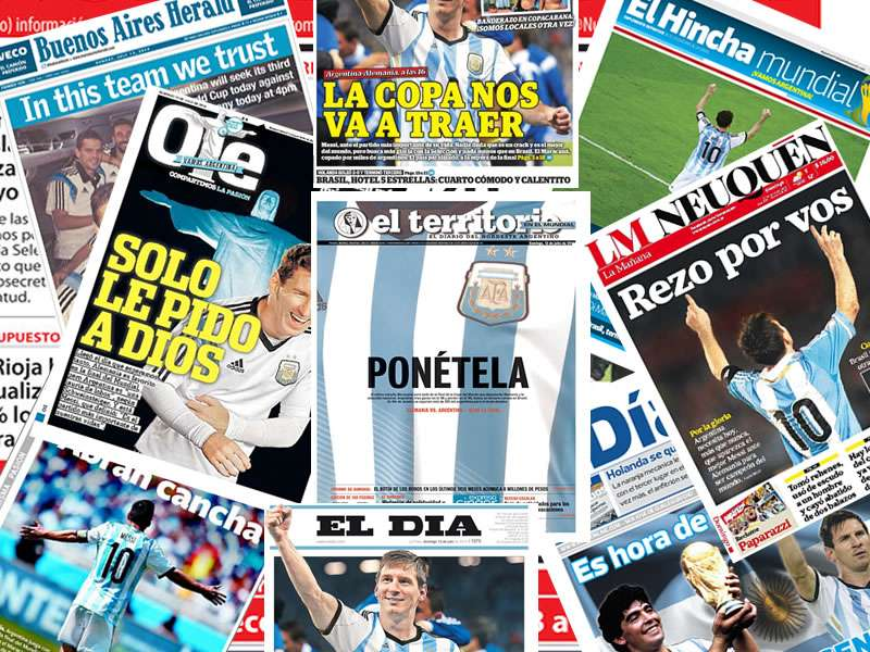 Argentine media trusts in God and Messi for final