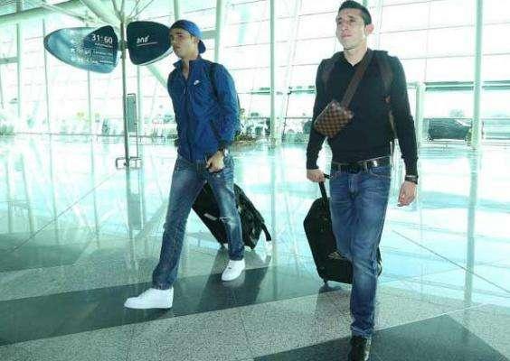 Herrera y Reyes se unen a la concentración del Porto