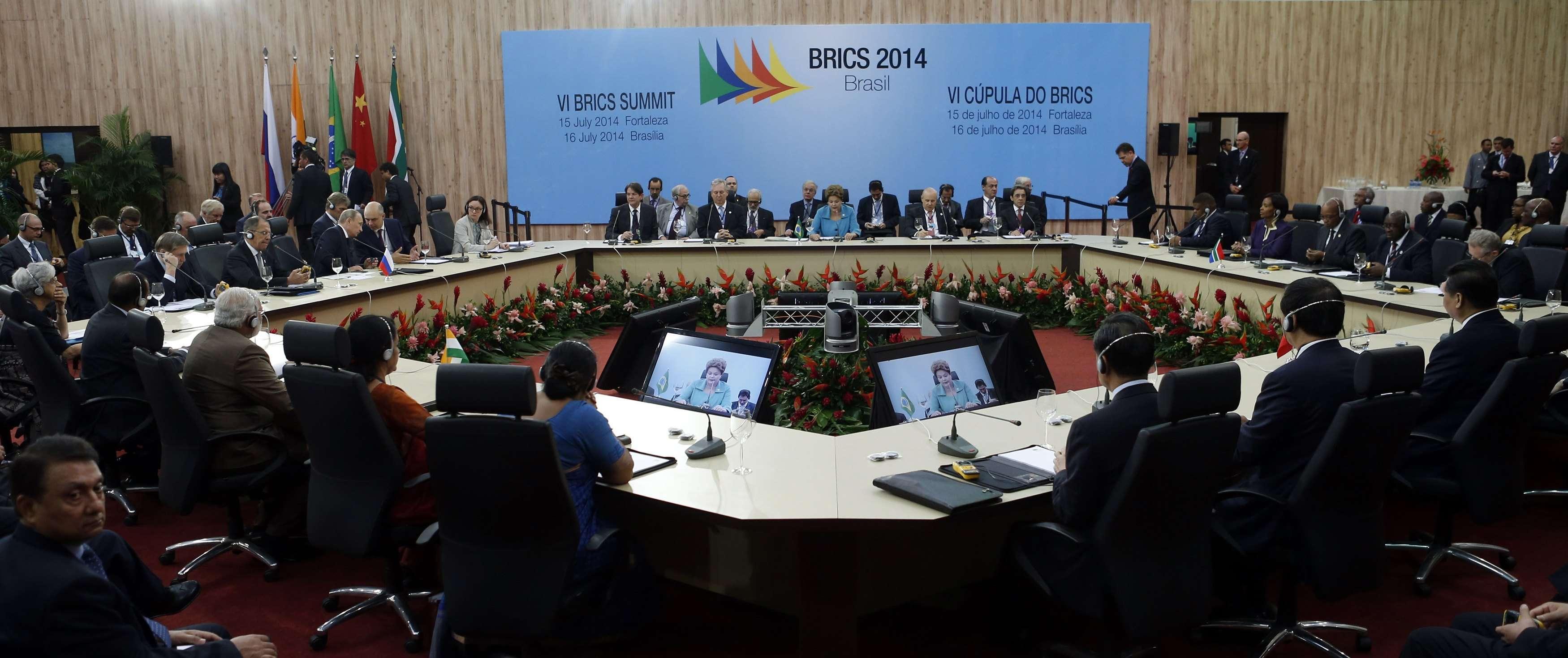 Membros do Brics se reuniram em Fortaleza e anunciaram a criação de um banco comum de desenvolvimento Foto: Nacho Doce/Reuters