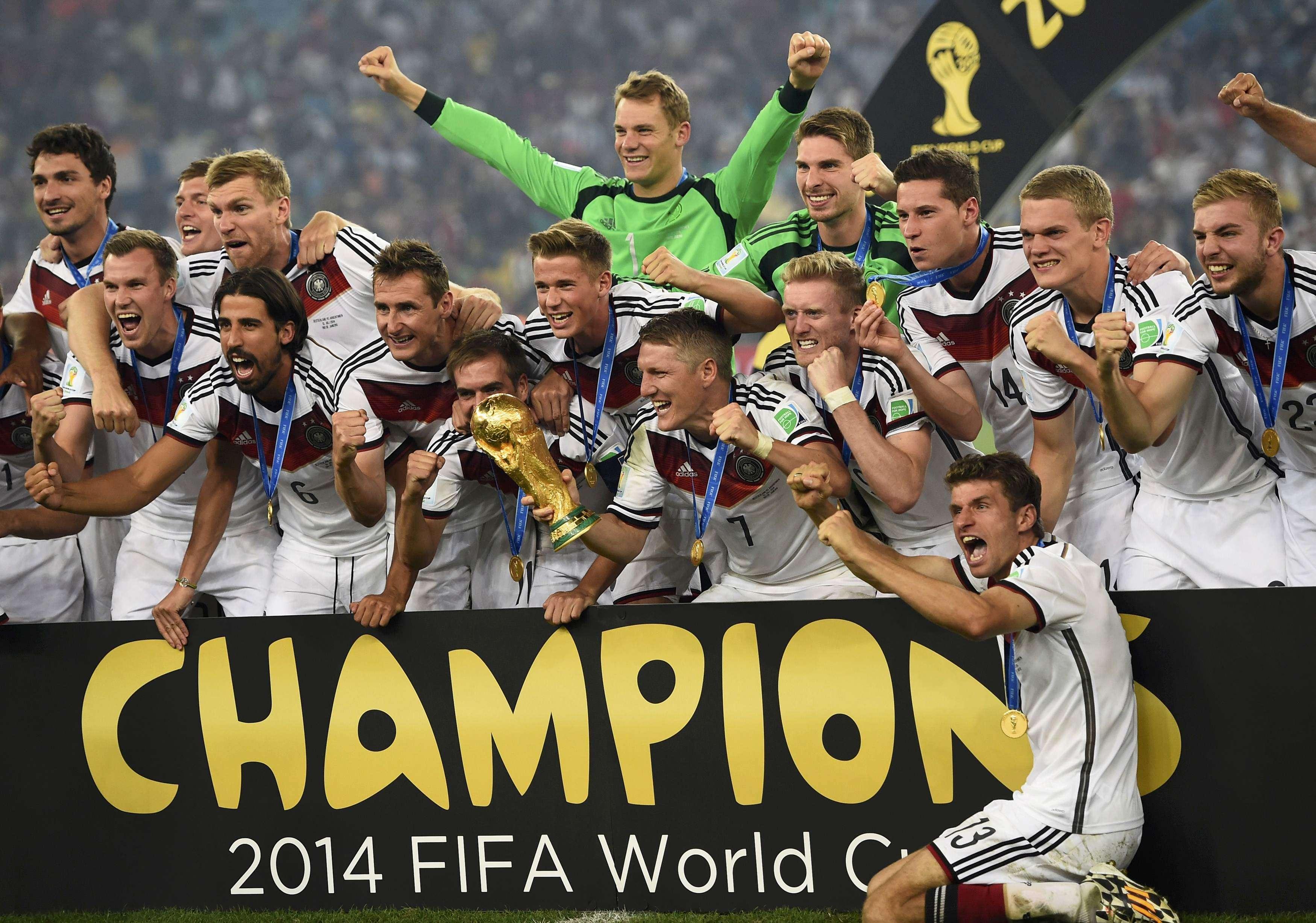 Alemania celebra su victoria en la final ante Argentina. Foto: Reuters en español
