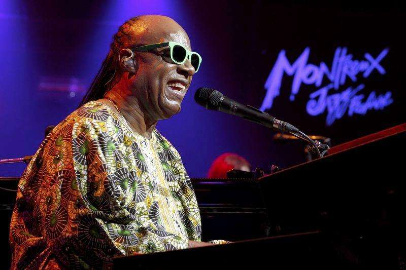 Stevie Wonder blends hits at Montreux for Quincy Jones