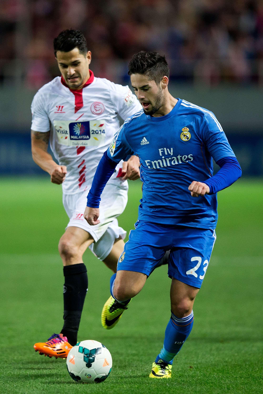 Isco, en un partido contra el Sevilla. Foto: Getty Images