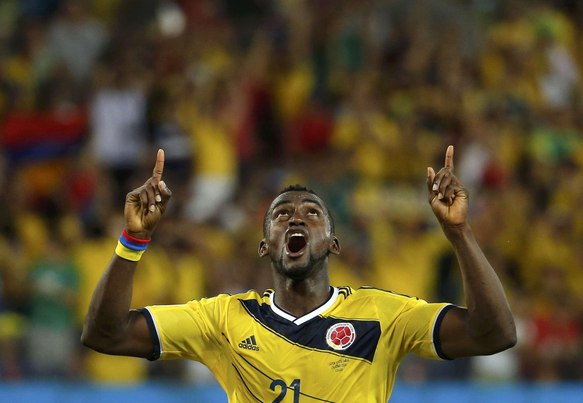 Jackson Martínez, con la selección colombiana. Foto: Reuters en español