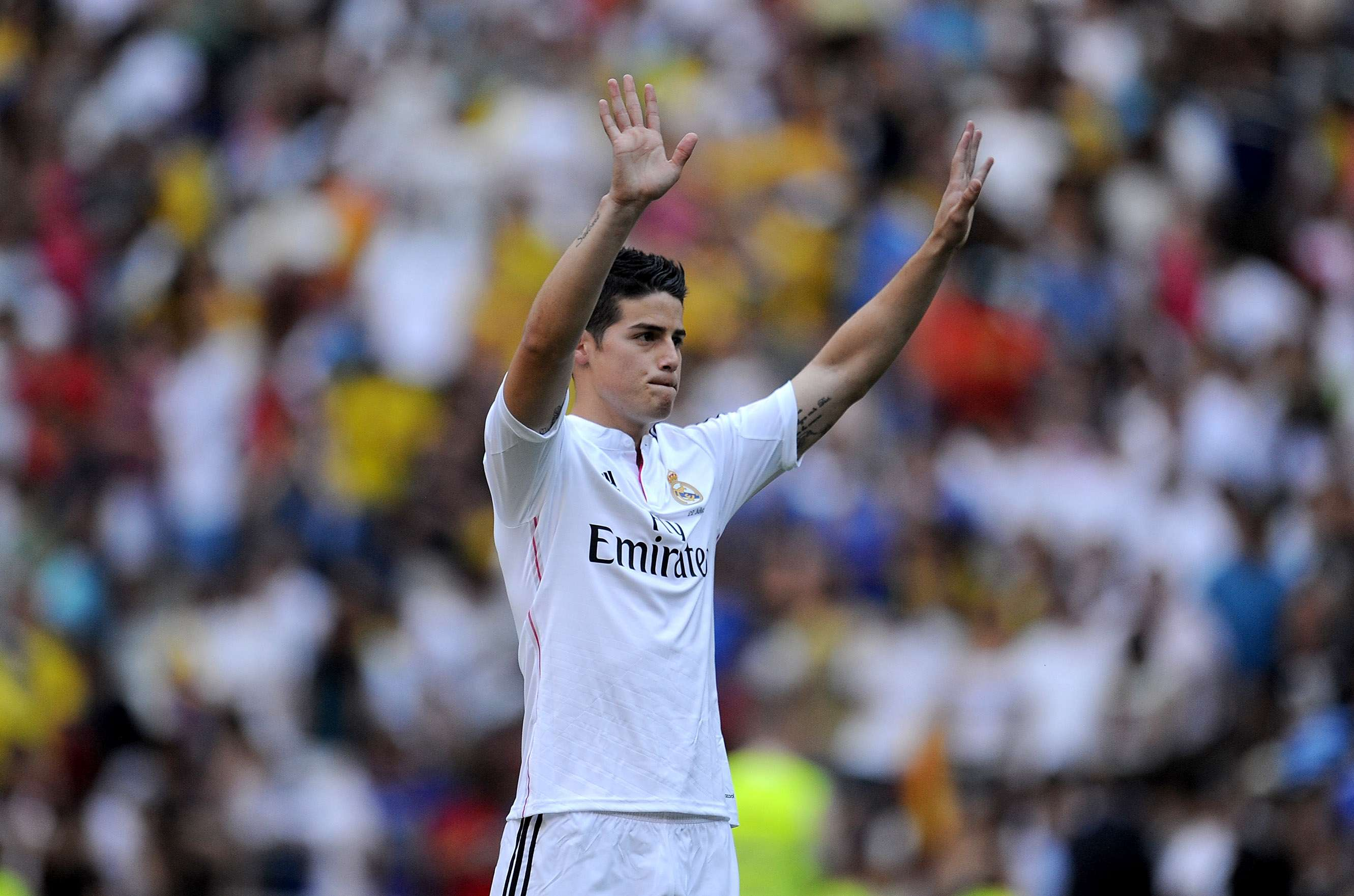 James Rodriguez: Real Madrid got their man in the Colombian, signing him to a six-year deal. Foto: Getty Images