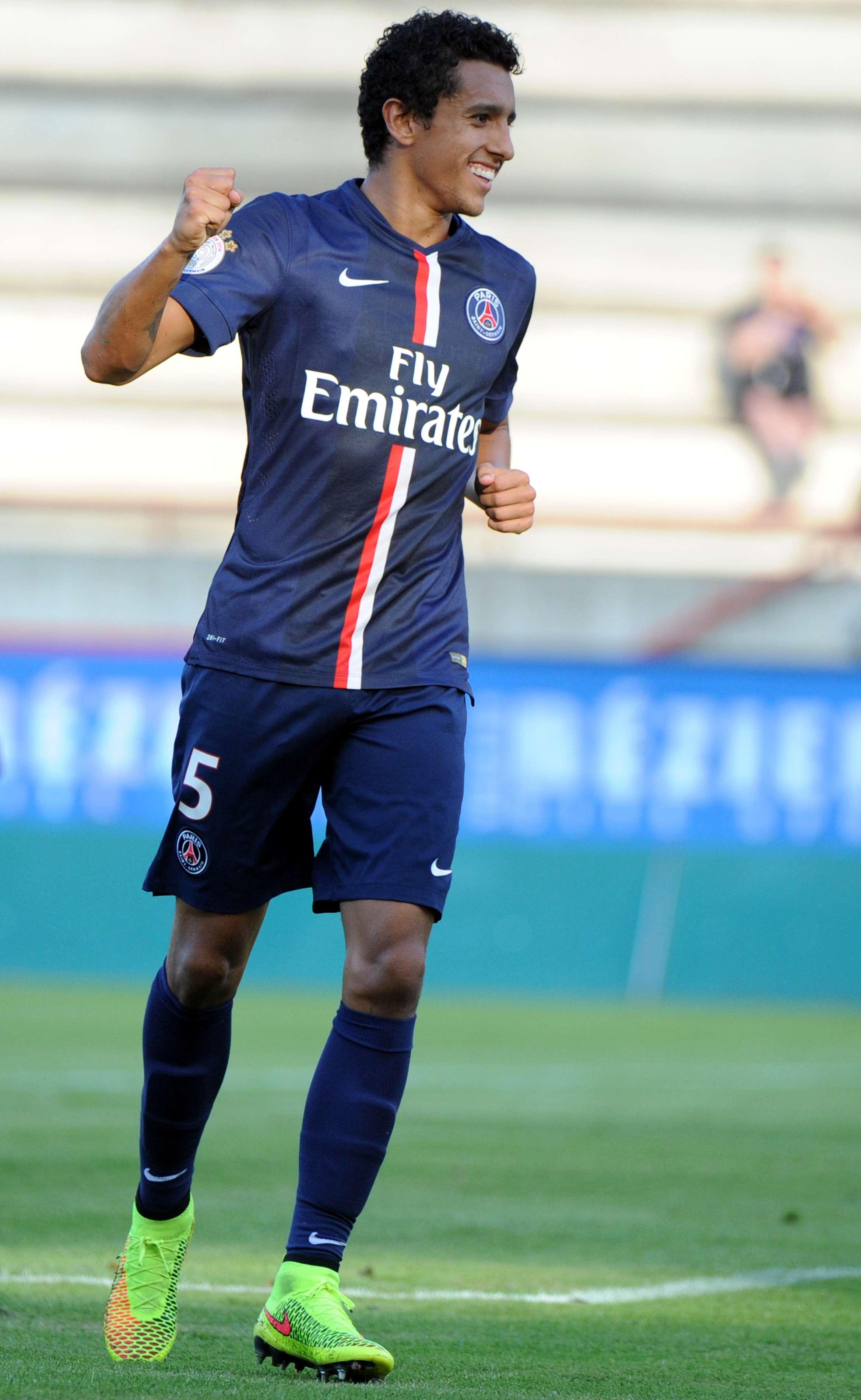 Marquinho marcou um dos gols do PSG Foto: Sylvain Thomas/AFP