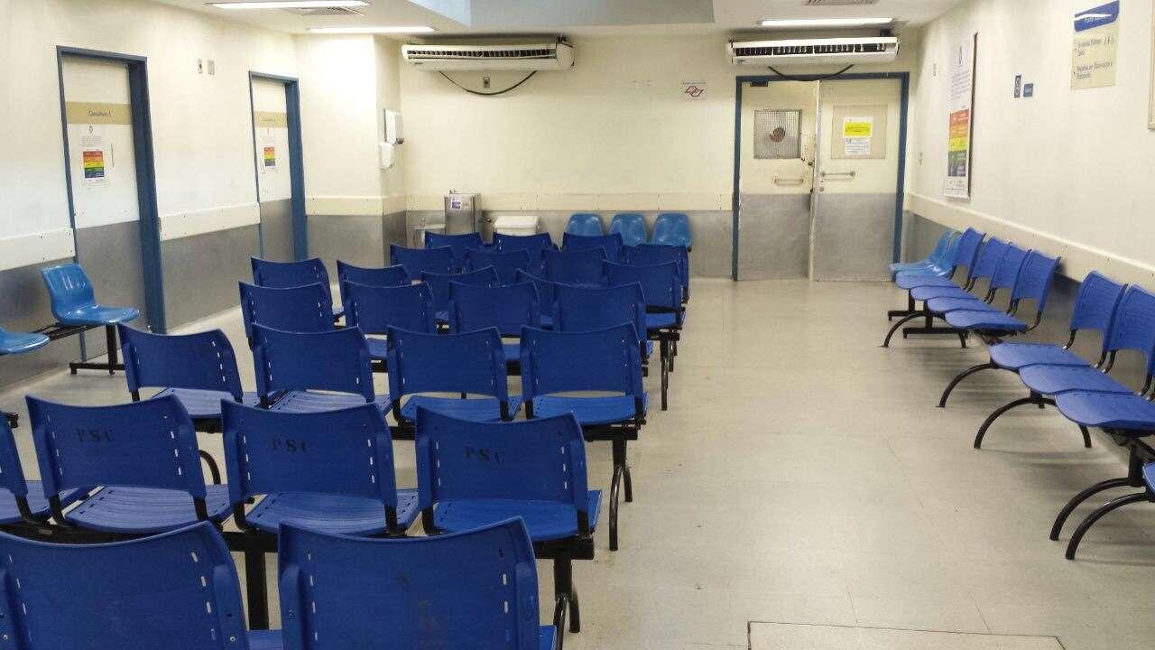 A sala de atendimento da Santa Casa ficou completamente vazia hoje Foto: Thiago Tufano/Terra