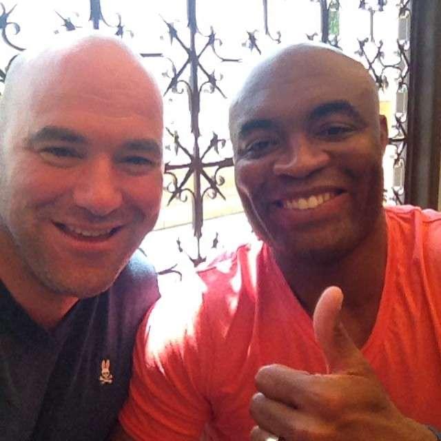 Dana White acertou retorno de Anderson Silva às lutas Foto: Instagram/Reprodução
