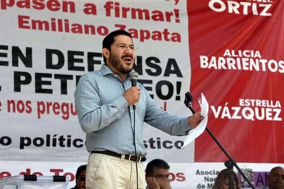 Martí Batres, dirigente nacional de Morena, confía en que su partido demostrará la fuerza política que tiene en la elección de 2015. Foto: Archivo/Reforma