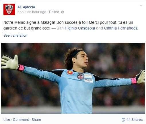 Facebook Ajaccio