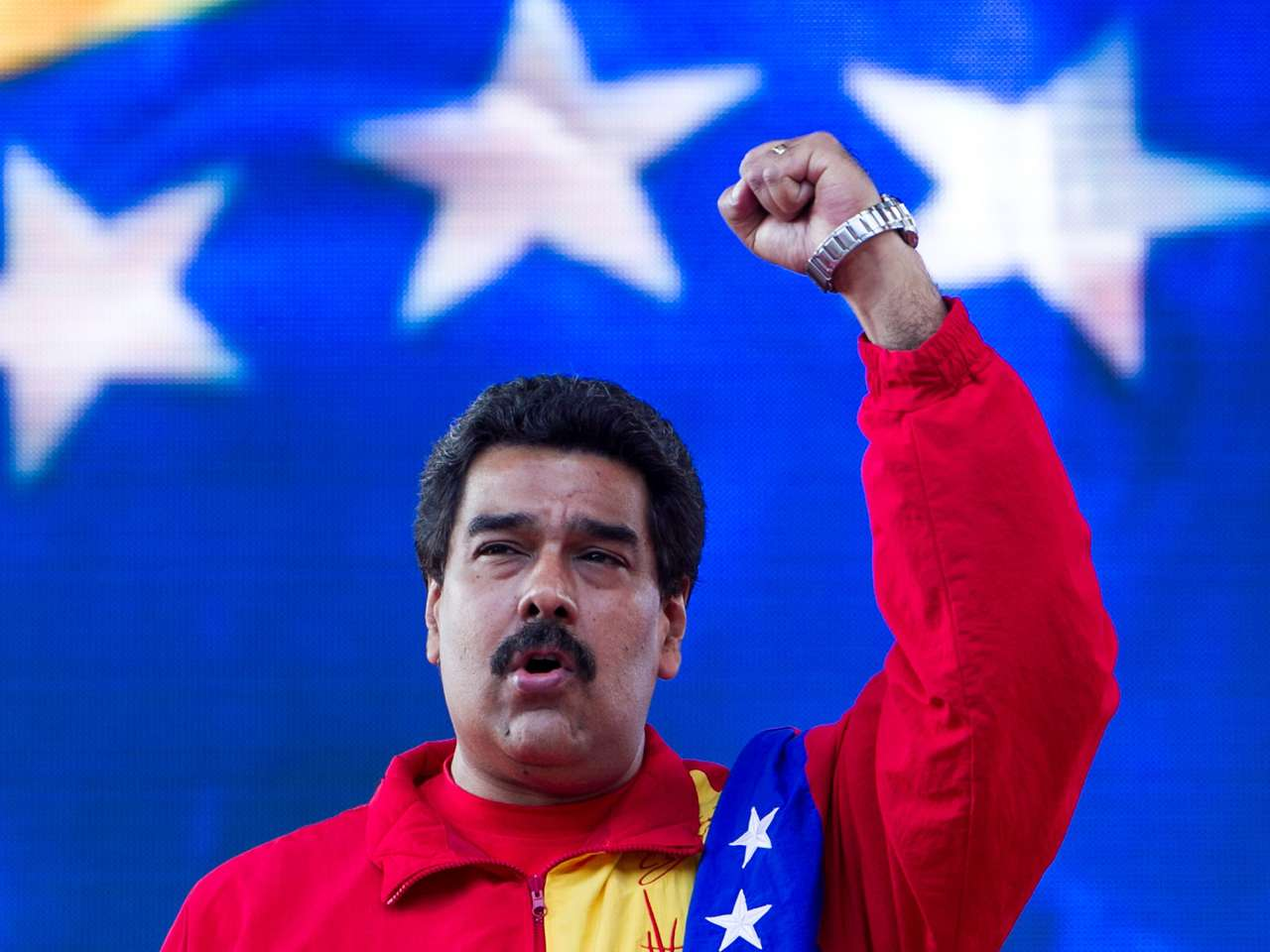 El presidente de Venezuela Nicolás Maduro participó este día (31 julio 2014) en el acto de cierre del III Congreso del Partido Socialista Unido de Venezuela Foto: EFE