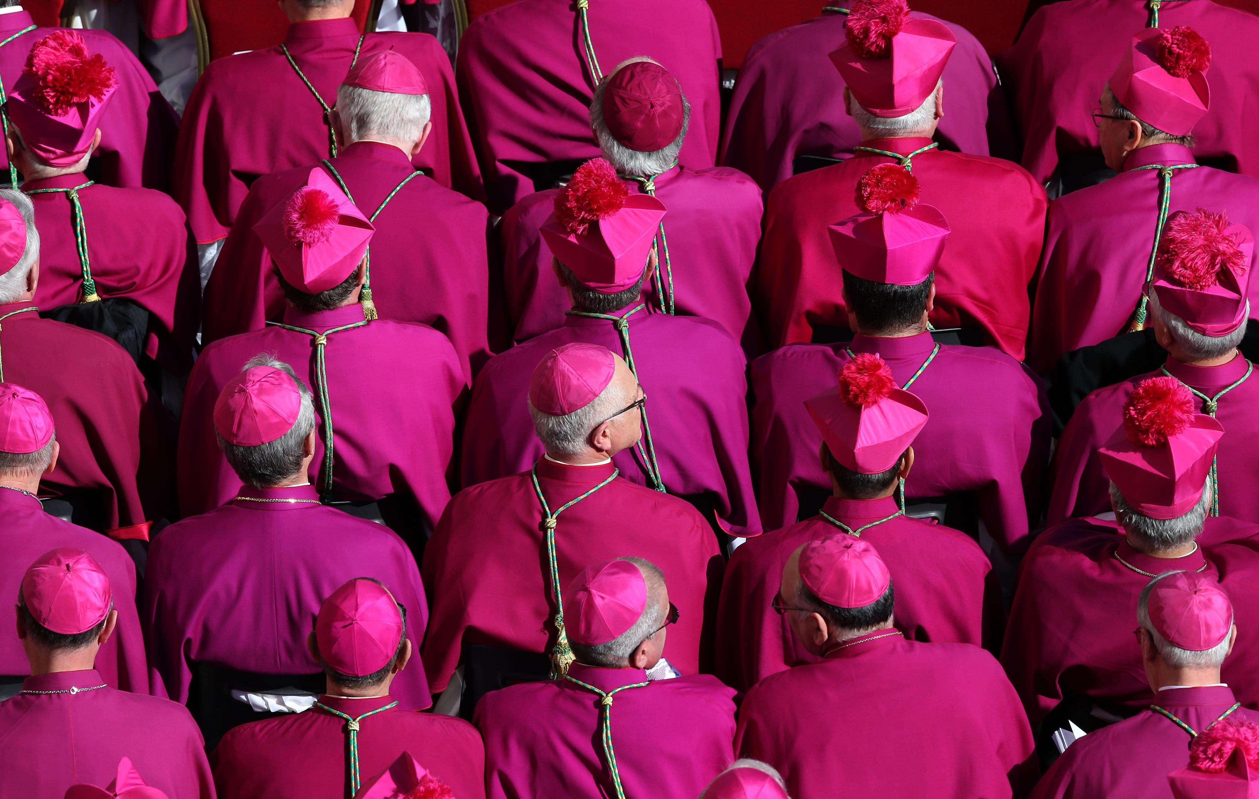 Obispos esperan en el Vaticano la ceremonia inaugural del papa Francisco el 19 de marzo de 2013. Foto: Getty Images