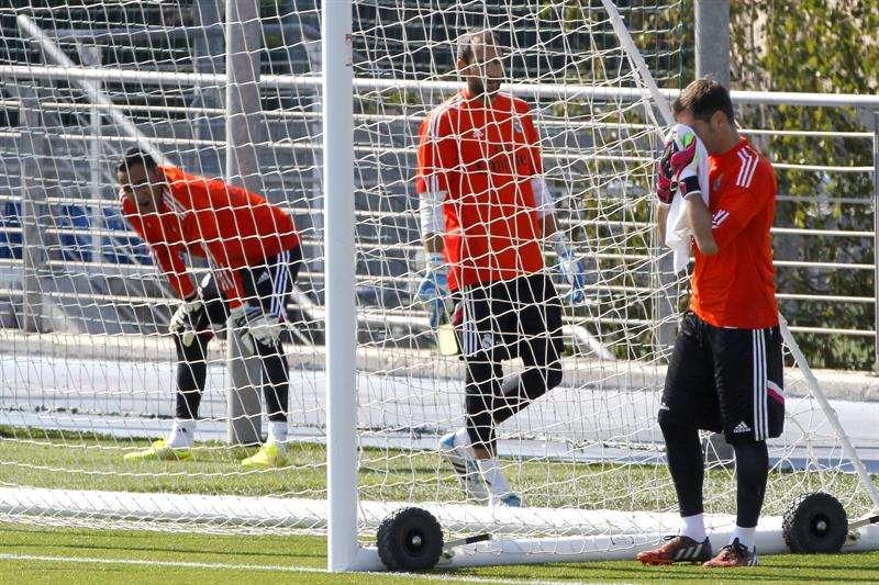 Keylor Navas, Casillas y Diego López, juntos por primera vez