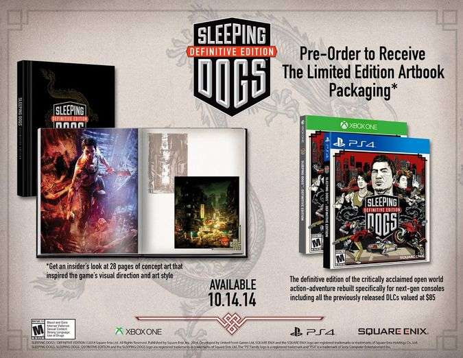 Sleeping Dogs será lançado para PS4 e Xbox One em outubro