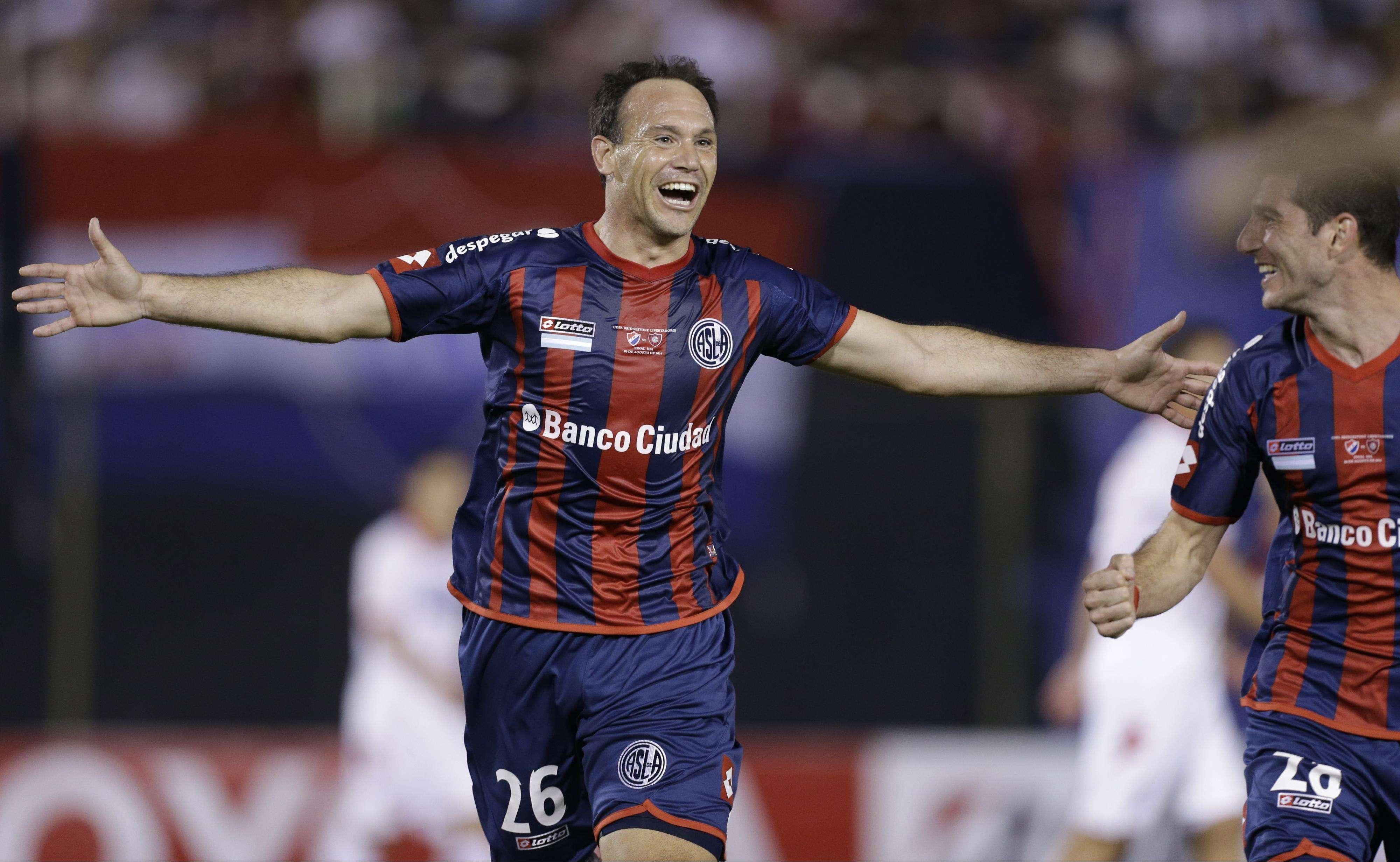 San Lorenzo abriu o placar com Matos aos 19min do primeiro tempo Foto: Jorge Saenz/AP