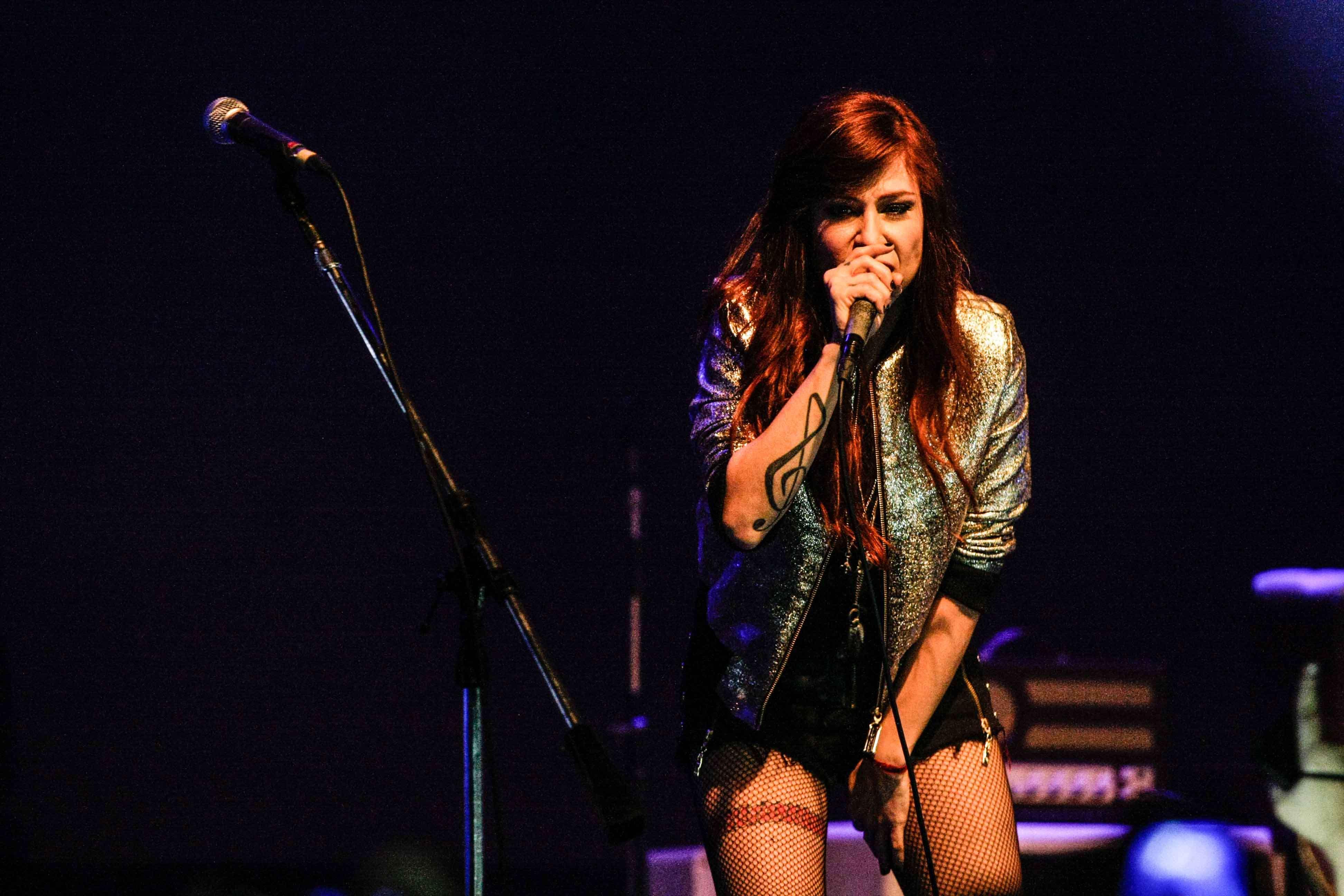 A cantora baiana Pitty apresentou o álbum 'Sete Vidas' no Audio Club, em São Paulo Foto: Leo Franco/AgNews