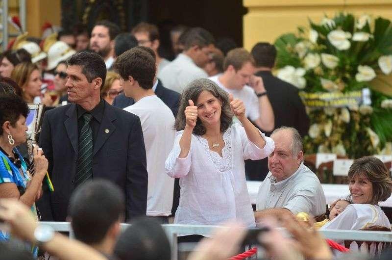 Viúva de Eduardo Campos mostra força durante o velório do marido Foto: Felipe Frazão/Agência Brasil