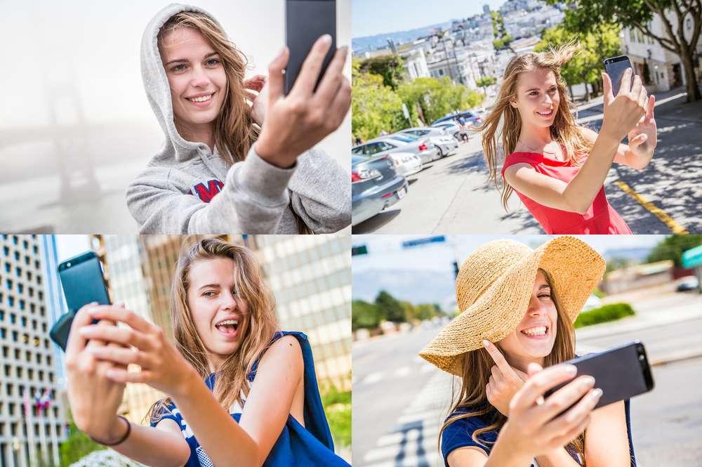 Existem aplicativos próprios para selfies capazes de tratar qualquer foto evidenciando qualidades ou escondendo defeitos indesejáveis Foto: Linda Moon/Shutterstock