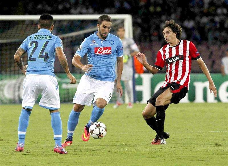 Nápoles y Athletic empatan y lo dejan todo para San Mamés
