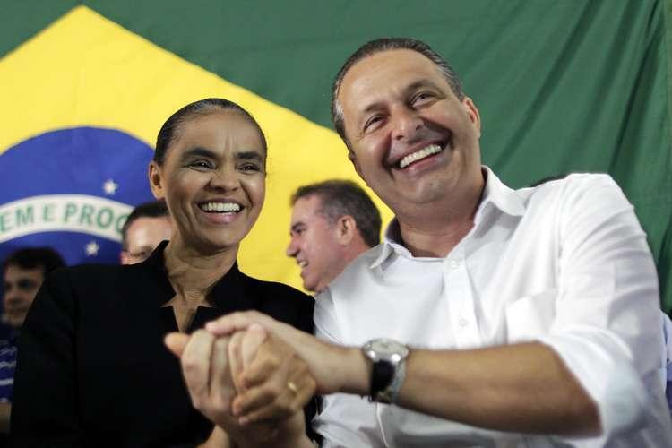 Marina com Eduardo Campos Foto: Reuters