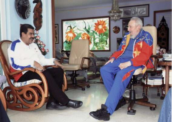 Maduro visita a Fidel Castro; destaca su 'energía y fuerza'