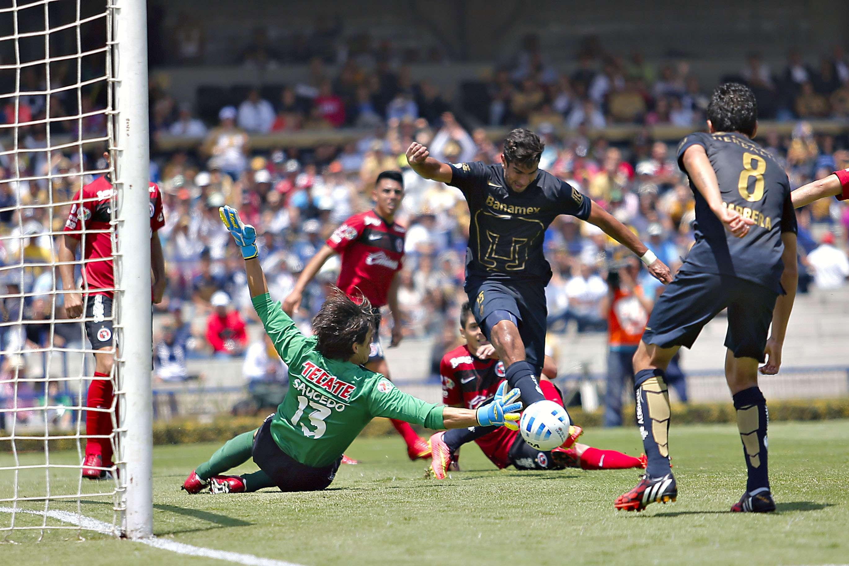 Memo Vázquez debutó al frente de Pumas, que no fue capaz de sacar los tres puntos en un gris encuentro ante Tijuana, en CU. Foto: Imago7