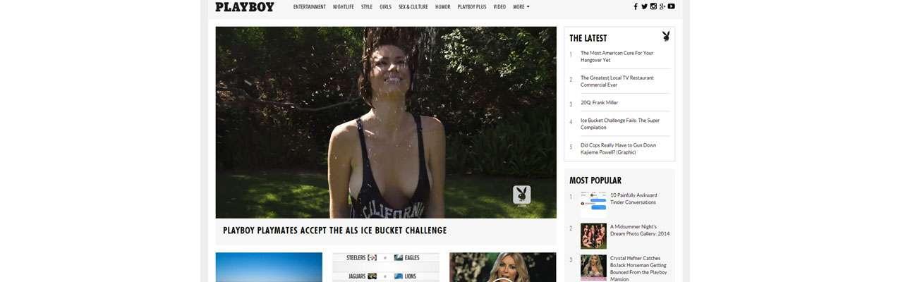 """Playboy diminui pornografia e quer site """"mais viral"""""""