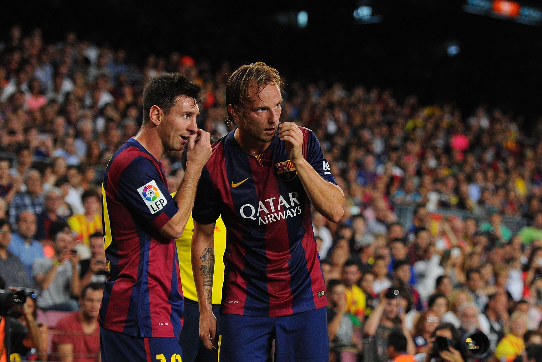 Messi y Rakitic. Foto: Getty Images