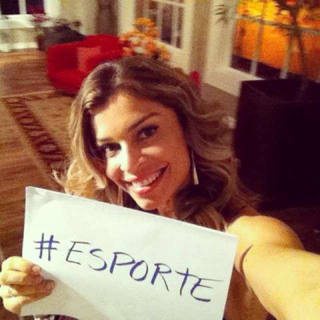 A atriz Grazi Massafera participou da campanha do Projeto Criança Esperança,toda criança e adolescente tem direto a esporte, dizia a legenda da foto Foto: Instagram @massafera/Reprodução