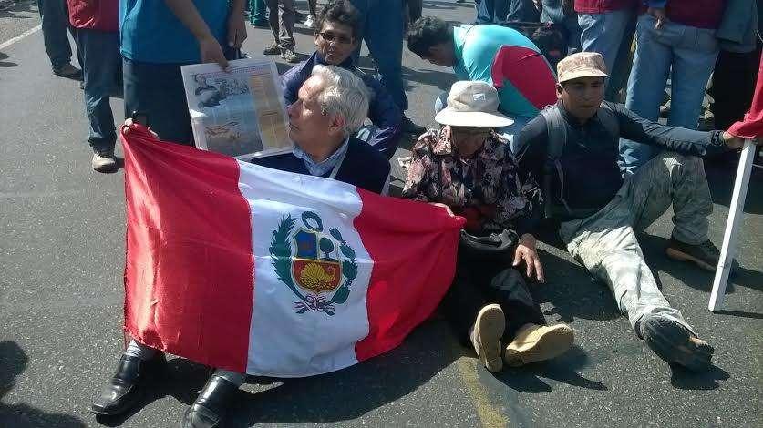 Manifestantes agotados