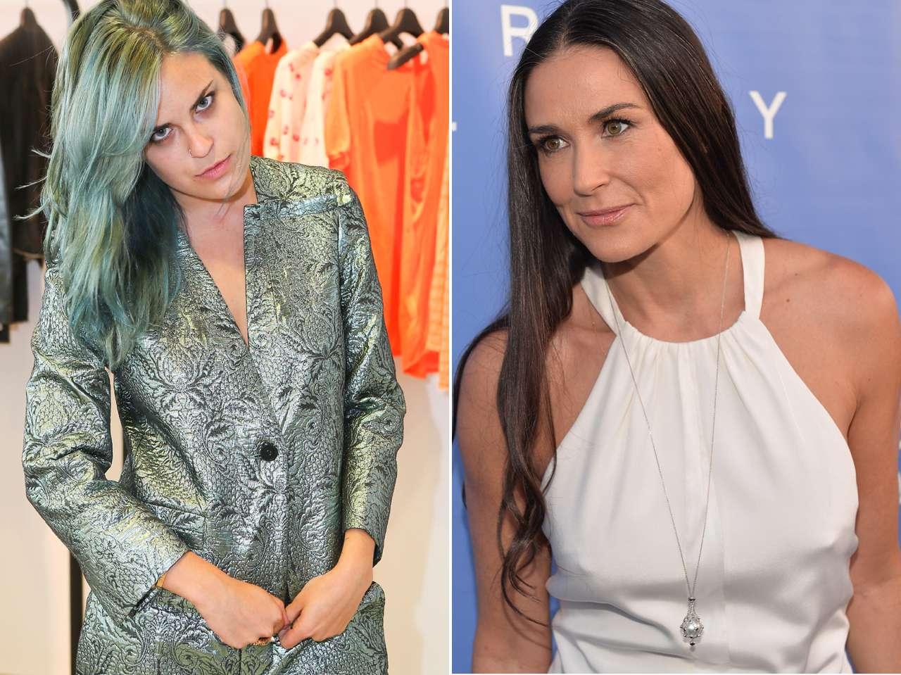 Demi Moore se culpa de las adicciones de su hija Tallulah