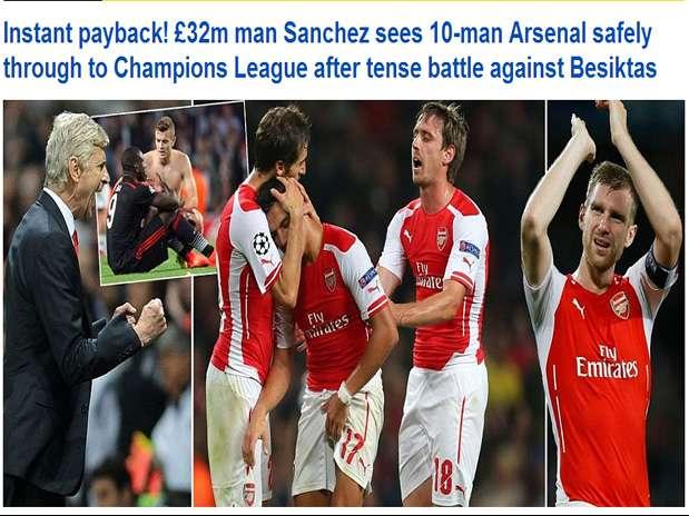 Alexis se roba las portadas de la prensa inglesa tras gol