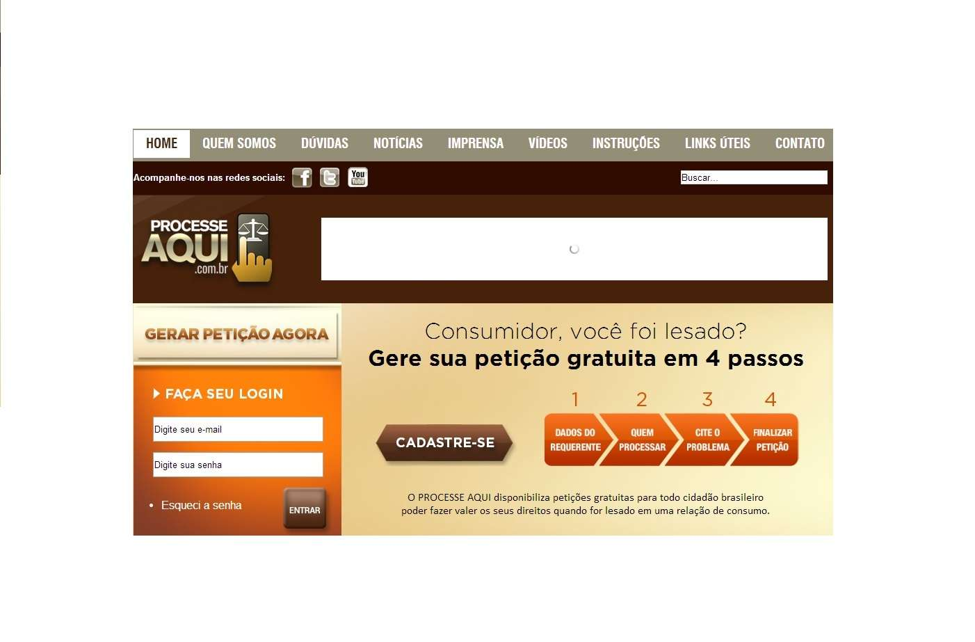 Site orienta consumidor a processar empresas sem advogado