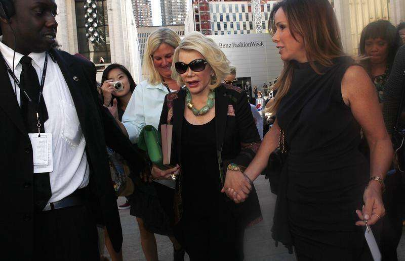 Comedian Joan Rivers, 81, stops breathing, is hospitalized