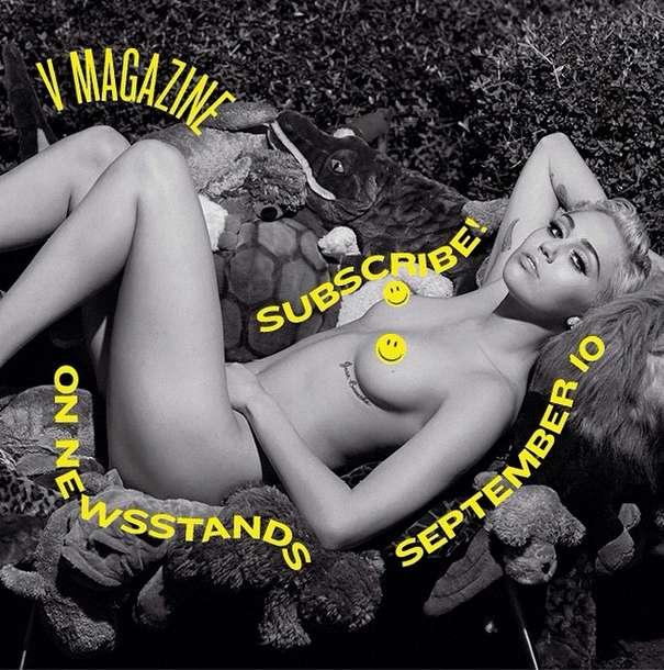 Miley Cyrus posa nua; veja 10 fotos desinibidas da cantora