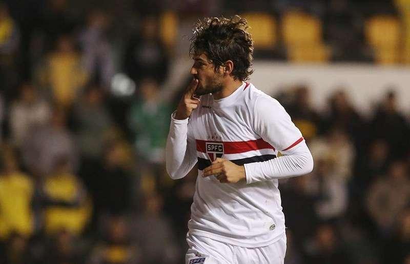 Alexandre Pato fez o gol são-paulino na partida Foto: Rubens Chiri/São Paulo FC/Divulgação
