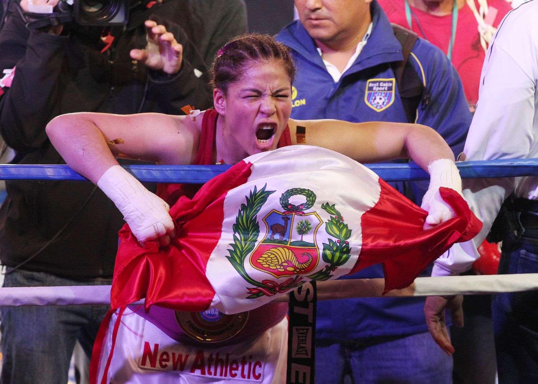 Linda Lecca ganó su título AMB en mayo la superar a la brasileña Simone da Silva. Foto: Andina